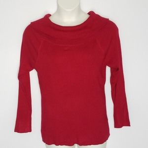 NWOT Torrid Red Sweater SZ 3 3X Long Sleeve Ribbed